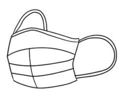 マスク イラスト 簡単