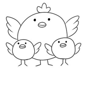 鶏 書き方