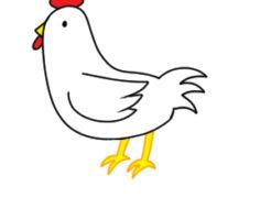 鶏 イラスト 簡単