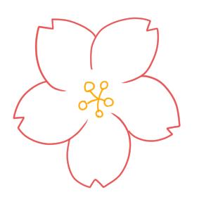 桜 イラスト 簡単 書き方