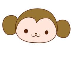 猿 書き方