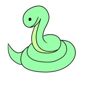 蛇 イラスト 簡単