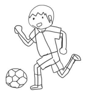 サッカー 書き方