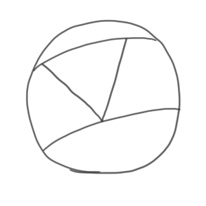 サッカーボール 書き方