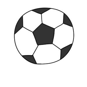 サッカーボール イラスト 簡単