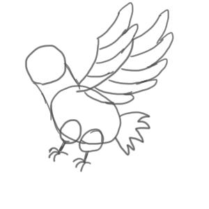 鷹 書き方