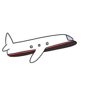 飛行機 書き方