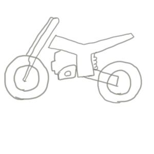 バイク イラスト 簡単