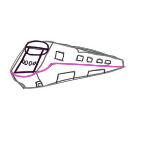 新幹線 イラスト 簡単