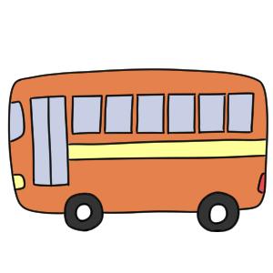 バスのイラストの簡単な書き方は 初心者でも描ける イラストの簡単な