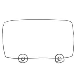 バス イラスト 簡単