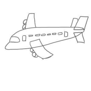 飛行機 イラスト 簡単