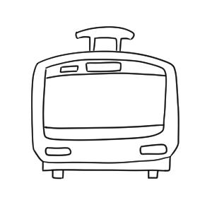 電車 イラスト 簡単