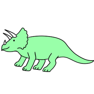 恐竜 書き方