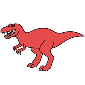 恐竜 イラスト 簡単