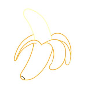 バナナ イラスト 簡単