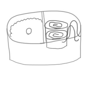 弁当 イラスト 簡単
