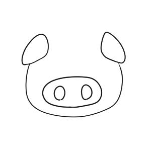 豚 イラスト かわいい