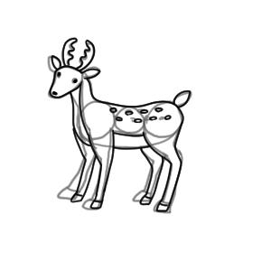 鹿 書き方