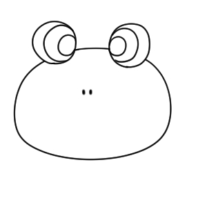 カエル 書き方