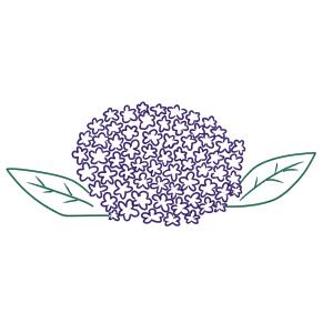 紫陽花 イラスト 簡単