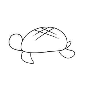 亀 イラスト 簡単