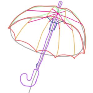 傘 イラスト 簡単