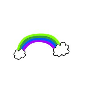 虹 書き方