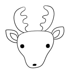 鹿 イラスト 簡単