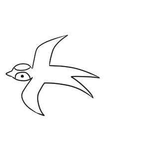 ツバメ イラスト かわいい