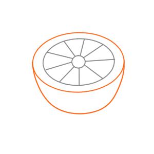 オレンジ イラスト 簡単