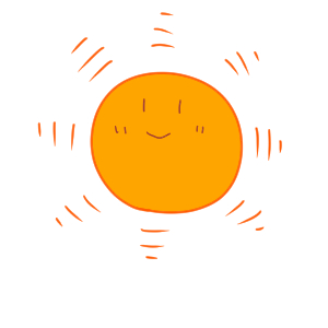 太陽 イラスト かわいい