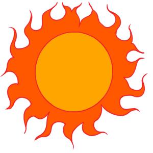 太陽 書き方