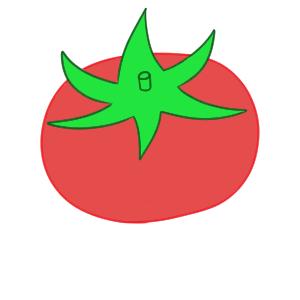 トマト 書き方