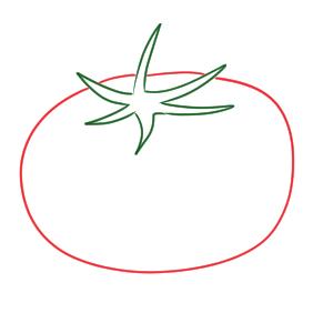 トマト イラスト 簡単