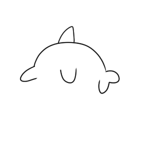 イルカ イラスト かわいい