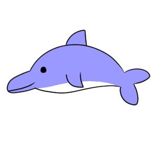 イルカのイラストの簡単でかわいい書き方とは イラストの簡単な書き方
