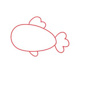 金魚 書き方