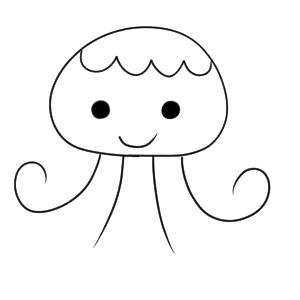 クラゲ イラスト かわいい
