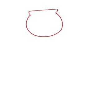 りんご飴 イラスト 簡単