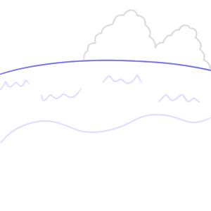 海 イラスト 簡単