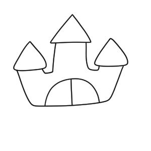城 イラスト 簡単