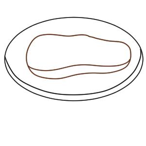 ステーキ イラスト 簡単