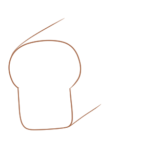 パン 書き方