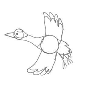 鶴 イラスト 簡単