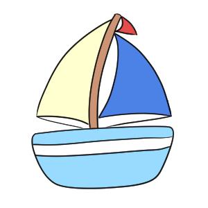 ヨット 書き方