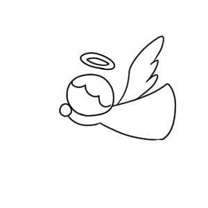 天使 イラスト 簡単
