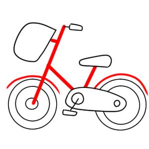 自転車 イラスト 簡単