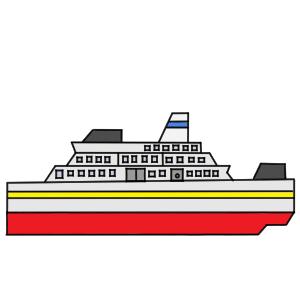 船 イラスト 簡単
