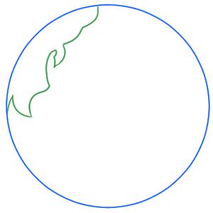 地球 イラスト 簡単